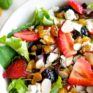 Springtime Mixed Berry Salad.