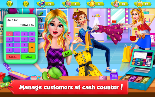 Shopping Mall Girl Cashier Game 2 - Cash Register  screenshots 9