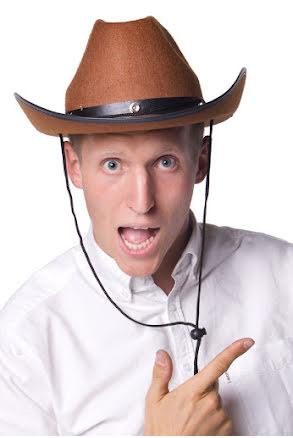 Cowboyhatt, brun