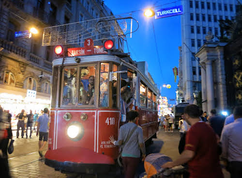 Tramway on Istiklal Caddesi, Istanbul