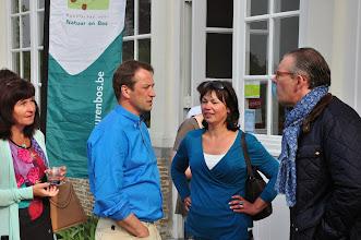 Photo: Van L naar R : Chris, Wim Maes en zijn echtgenote Sabrina en Peter Goossens