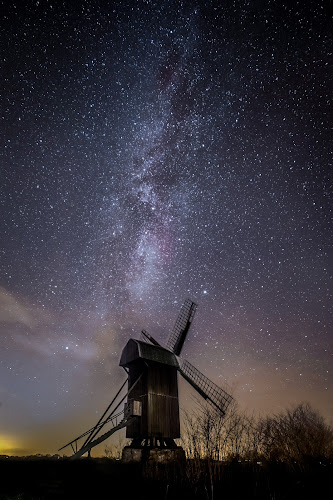 The old Windmill by Jocke Mårtensson - Buildings & Architecture Decaying & Abandoned ( mill, stars, night, windmill,  )