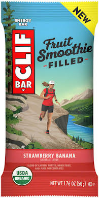 Clif Bar Fruit Smoothie Filled Bars: Strawberry Banana, Box of 12 alternate image 2