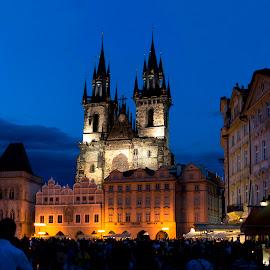 Heaven by Simply Sensational - Buildings & Architecture Public & Historical ( building, europe, blue sky, crowd, prague )