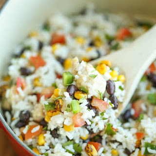 One Pot Beans, Chicken and Rice Recipe