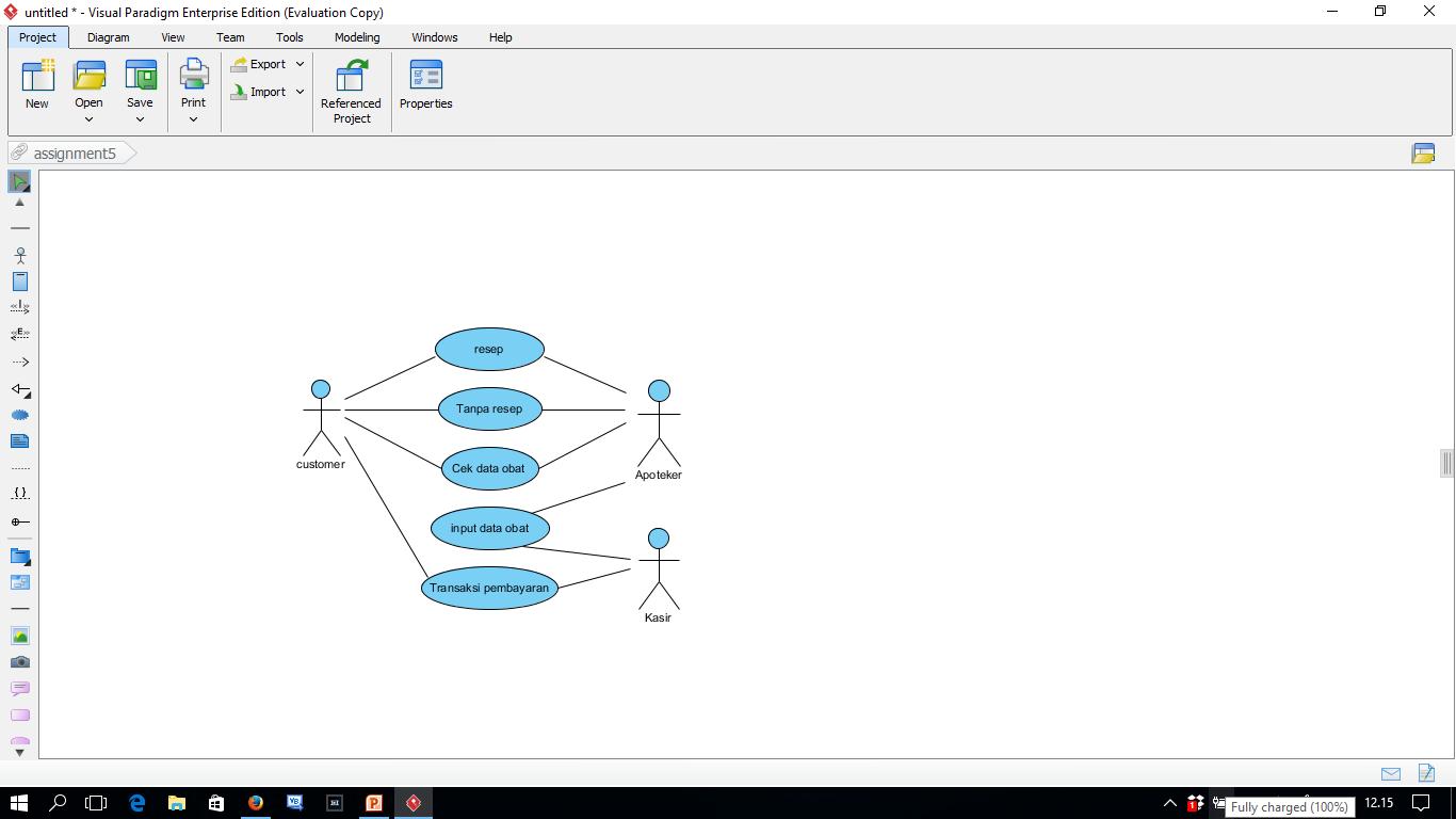 Ulfah hidayatika 93780 ooad essay tugas 5 membuat diagram use case apotik ccuart Gallery