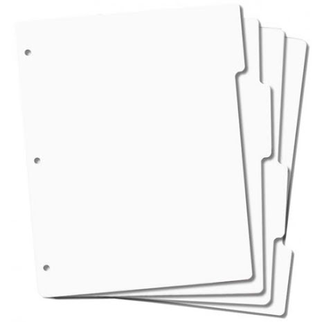 Crafters Companion Full Size Tabbed Storage Panels 4/Pkg