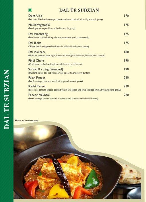 Pind Balluchi menu 6