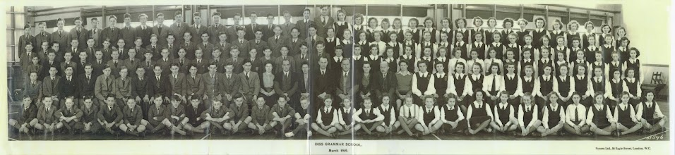 Photo: Diss Secondary School – 1949. (Thanks to Peter Thrower)