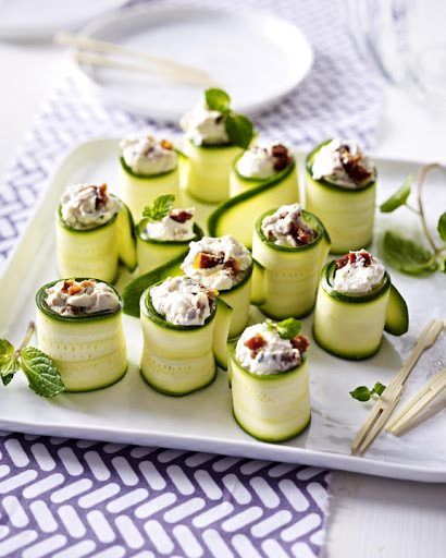 10 best vegetarian canapes recipes for Vegetarian canape