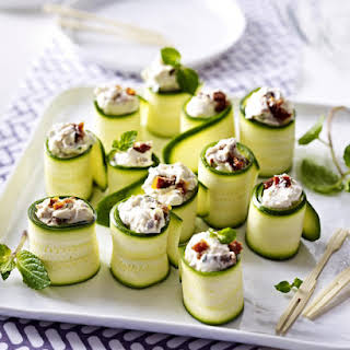 Zucchini and Goat Cheese Canapés.