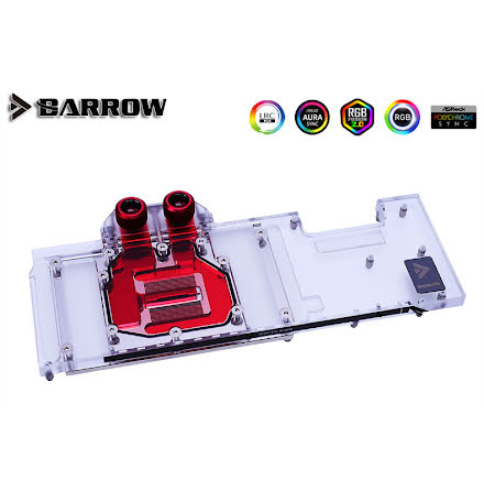 Barrow vannblokk for skjermkort Colorful RTX™ 3080/3090 Advanced/Ultra - Nickel+Plexi