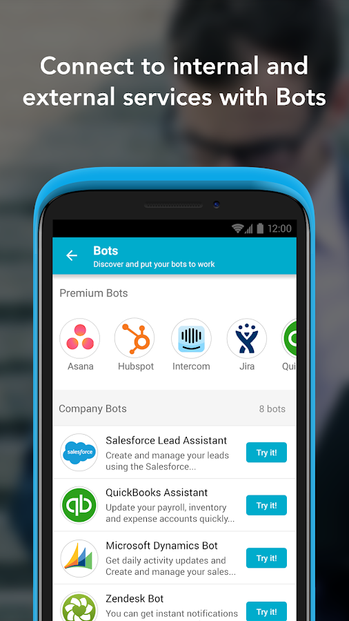 Business Messaging, Chat Bots- screenshot