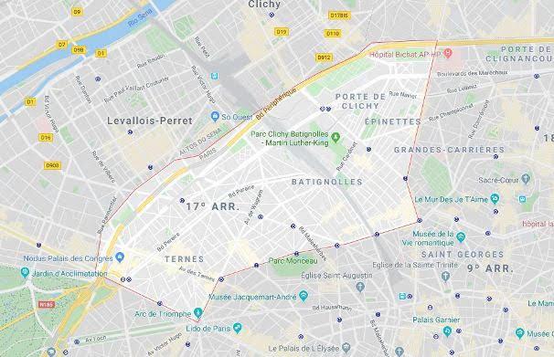 17º arrondissement des Batignolles-Monceaux
