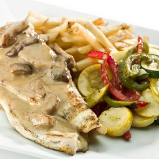 Creamy Mushroom Sauce for Chicken and Poultry.