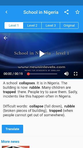 English News in Levels 1.6.6 screenshots 2