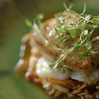 Halibut With Spicy Kimchi.