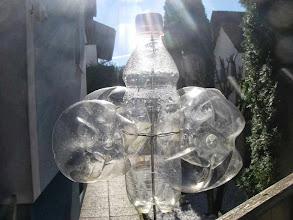 Photo: Ein Plastikflaschen-Windrad