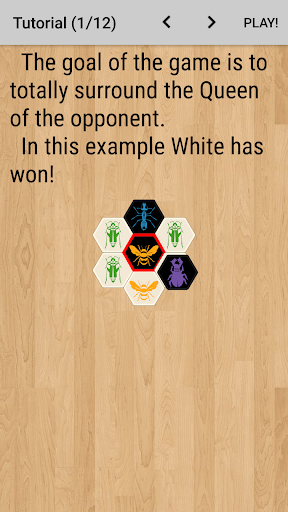 Hive with AI (board game) - screenshot