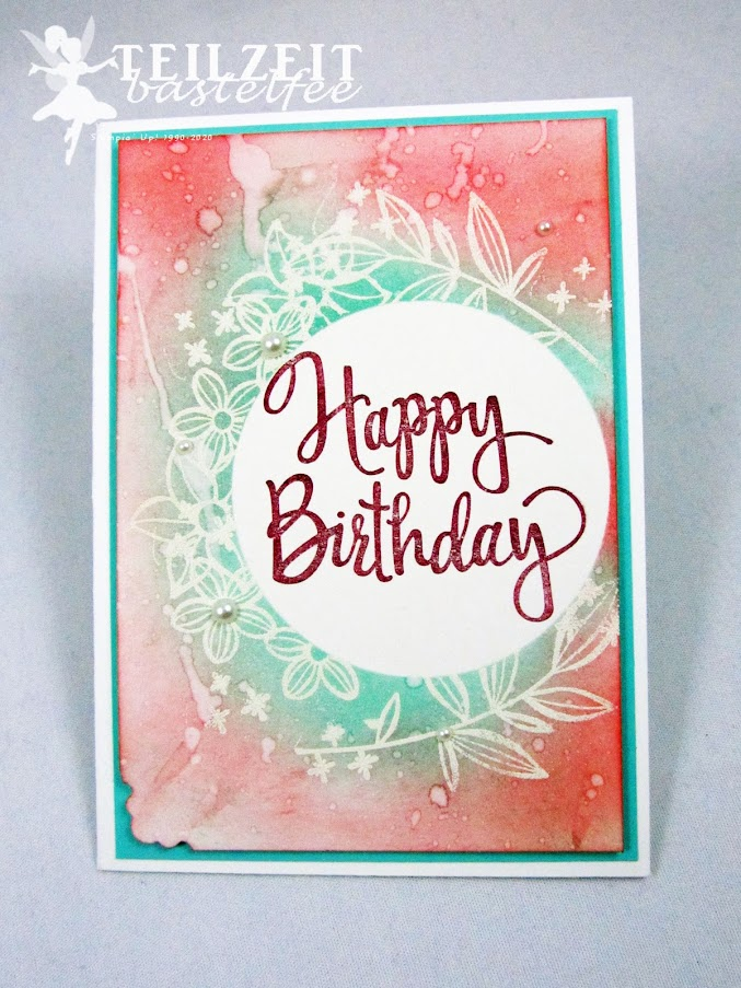 Stampin' Up! - Inkspire_me, Birthday, Geburtstag, Stylized Birthday, Falling Flowers, Magical Day, Emboss Resist, Sponge, Schwämmchen