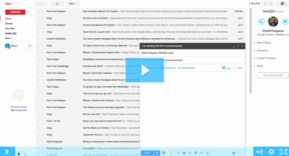 Hubspot CRM - Email Setup and Usage