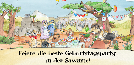 Tafiti Savannenparty Lernspiel app for Android screenshot