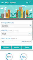 Screenshot of EMI Calculator HDFC,SBI,ICICI.