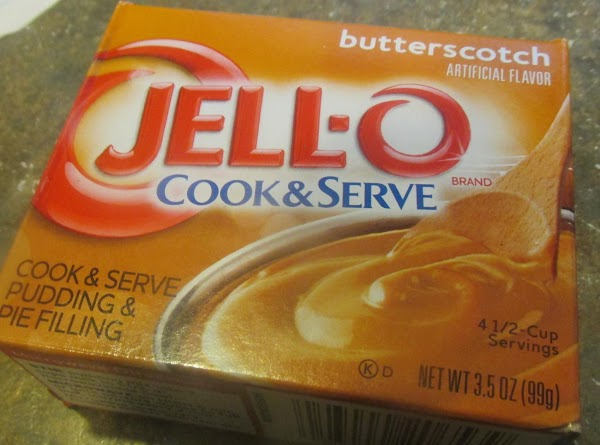 Add the butter scotch pudding and stir to blend.