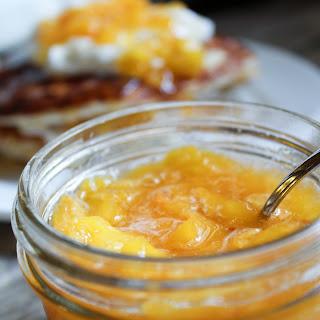2 Ingredient Peach Sauce {THM-E, Sugar Free, Low Fat} Recipe