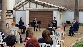 Quinteto de saxofones y un trío de viento madera en el Museo de Arte 'Doña Pakyta'.