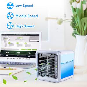 Mini aparat portabil pentru racit aerul, USB, lumina ambientala