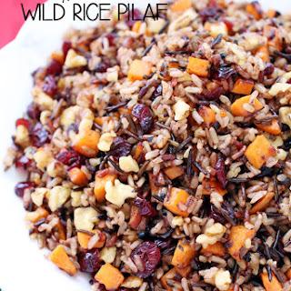 Cranberry, Walnut & Sweet Potato Wild Rice Pilaf.