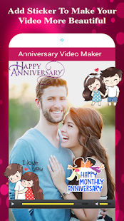 Anniversary Photo Video Maker - náhled