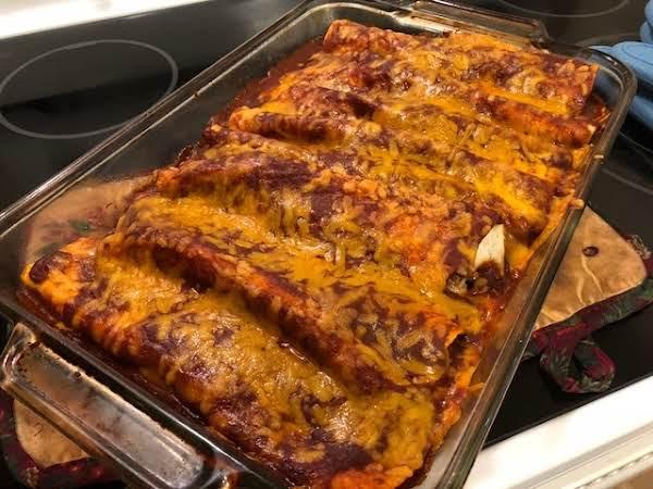 Spanish Rice Beef And Cheese Enchiladas