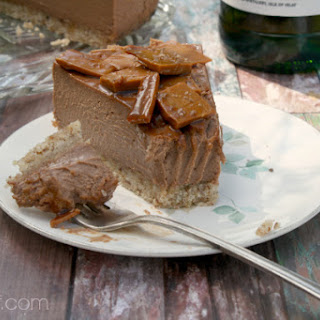 Chocolate Cheesecake with (or without) Whisky Toffee Shards
