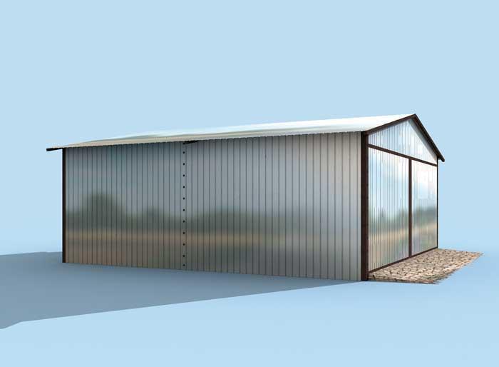 Projekt Garażu Gb6 Garaż Blaszany Tiz 176 3543m²