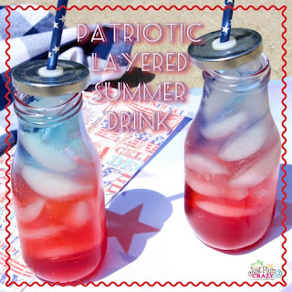 Patriotic Summer Drink.