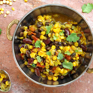 Vegan Three Bean Dal.