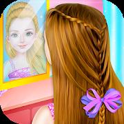 الأميرة الصغيرة السحرية جديلة تسريحات الشعر صالون