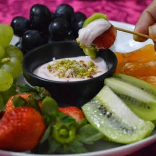 Fruit Platter with creamy dip.