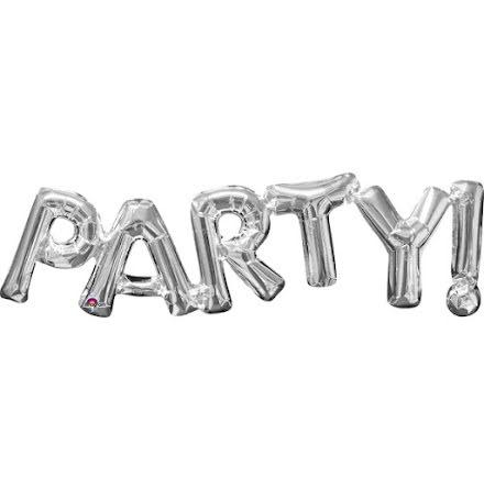 Folieballong - PARTY! silver