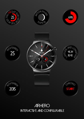 android Airhero Watch Face Screenshot 2