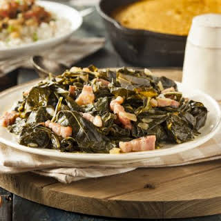Southern Style Collard Greens In A Crockpot.