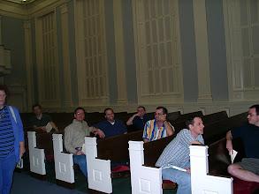 Photo: April 2002: Venetian Vespers Service concert; audience just starting to arrive.