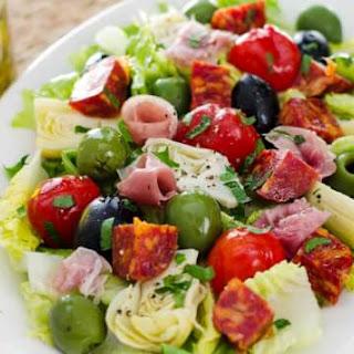 Antipasto Salad with Easy Italian Dressing Recipe