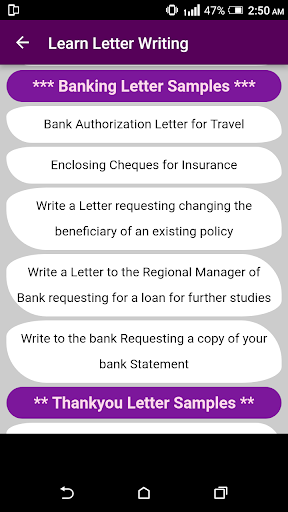 Learn English Letter Writing with 2000+ Examples ! 1.0 screenshots 9