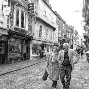 york by Kathleen Devai - Black & White Street & Candid ( monochrome, street, buildings, people, city )