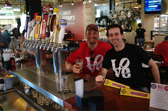 Photo: Mark Braunwarth, left, andTrevor Hayward of Evil Genius Brewing Company at Molly Malloy's in Reading Terminal Market hosting a breakfast event.