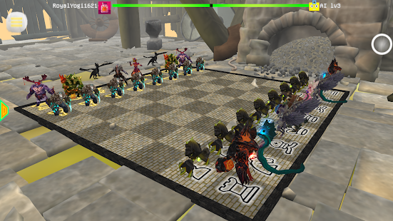 Chess 3D Animation : Real Battle Chess 3D Online Screenshot