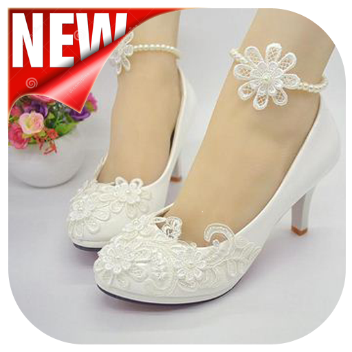 model of wedding shoes collection.